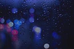 giorno piovoso dei semafori Fotografia Stock