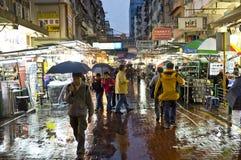 Giorno piovoso della via di Apliu Fotografie Stock
