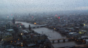Giorno piovoso a Londra Fotografie Stock