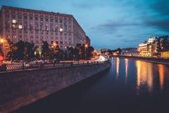 Giorno piovoso a Mosca fotografia stock