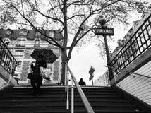 Giorno piovoso a Parigi fotografie stock libere da diritti