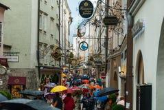 Giorno piovoso a Salisburgo II Immagini Stock Libere da Diritti