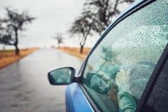 giorno piovoso sulla strada Immagine Stock Libera da Diritti