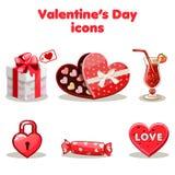 Giorno rosso del biglietto di S. Valentino s della raccolta di amore illustrazione di stock