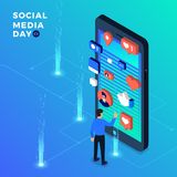 Giorno sociale di media illustrazione vettoriale