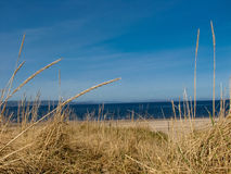 Giorno soleggiato ad una spiaggia scozzese Fotografie Stock