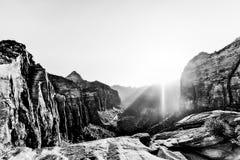Giorno soleggiato al parco nazionale di Zion Fotografia Stock Libera da Diritti