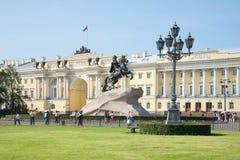 Giorno soleggiato di luglio sul quadrato del senato St Petersburg Fotografia Stock