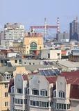 Giorno soleggiato di ona di paesaggio urbano a provincia di Dalian, Liaoning, Cina Immagine Stock