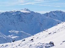 Giorno soleggiato dopo neve fresca Fotografia Stock Libera da Diritti