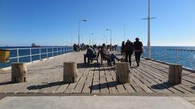 Giorno soleggiato a Molos Limassol, il Cipro Fotografia Stock Libera da Diritti