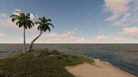 Giorno soleggiato nella piccola vista tropicale 2 dell'isola Fotografia Stock Libera da Diritti