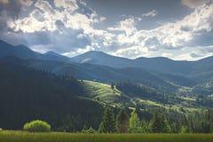 Giorno soleggiato per una passeggiata nelle montagne Immagini Stock