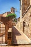 Giorno soleggiato a Siena, la Toscana, Italia Immagini Stock Libere da Diritti