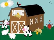 Giorno su un'azienda agricola illustrazione vettoriale