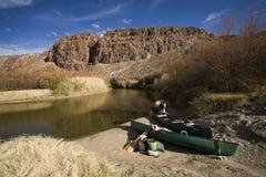 Giorno sul fiume Fotografia Stock Libera da Diritti
