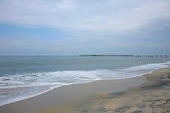 Giorno sulla spiaggia di Alleppey, Kerala, India Fotografie Stock Libere da Diritti