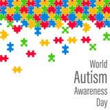 Giorno variopinto di consapevolezza di autismo del mondo di goccia del puzzle Immagine Stock