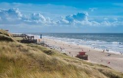 Giorno ventoso alla spiaggia, Sylt Fotografia Stock Libera da Diritti