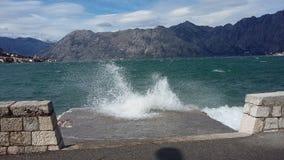 Giorno ventoso in Cattaro fotografia stock libera da diritti