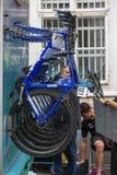 Gios bikes of the Movistar bike Stock Photography