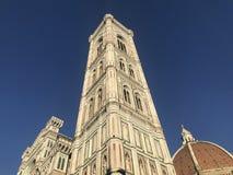 Giotto's klockatorn i Florence fotografering för bildbyråer