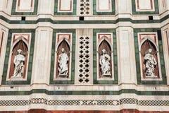 Giotto Bellfry的细节 免版税库存图片