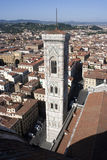 Giotto Campanile och tak Arkivbild