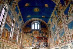 Wonderful Giotto fresco cycle in the Scrovegni Chapel, Padua Italy