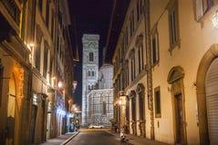 Giotto ` s钟楼在佛罗伦萨 库存图片