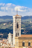 Giotto`s bell tower in Florence Royalty Free Stock Photos