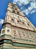 Giotto`s bell tower near the Duomo, Florence, Italy royalty free stock photo