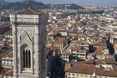 Giotto's bell tower seen from the top of the Duomo Royalty Free Stock Photos