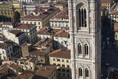 Giotto's bell tower seen from the top of the Duomo Royalty Free Stock Images