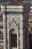 Giotto's bell tower seen from the top of the Duomo Stock Image