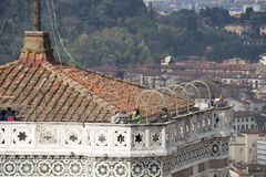 Giotto's bell tower with a view of the Duomo Royalty Free Stock Image
