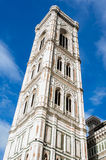 Giottos tower. Giotto's Campanile. Bell tower of Florence cathedral. UNESCO World Heritage Site Royalty Free Stock Image