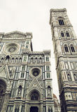 Giotto's Campanile and Cathedral Santa Maria del Fiore in Florence Royalty Free Stock Image
