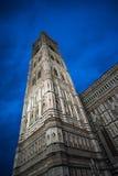 Giotto` s Campanile en Santa Maria del Fiore Cathedral, Duomo Stock Foto's