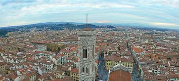Giotto`s Campanile. Florence Cathedral on the Piazza del Duomo in Florence, Italy Royalty Free Stock Images