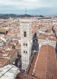 Giotto's Campanile in Florence city, Tuscany, Italy, vertical Royalty Free Stock Photo