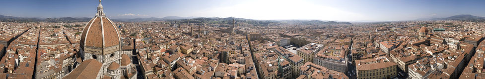 Giotto Tower Panorama. In Florence, Italy Royalty Free Stock Photo