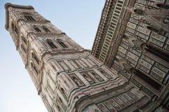Giottoklokketoren, Kerk van Santa MarÃa del Fiore, Florence Stock Foto's