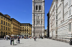 Giottos Campanile and Basilica di Santa Maria del Fiore in Flore Stock Photo