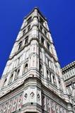 Giottos Campanile and Basilica di Santa Maria del Fiore in Flore Stock Images