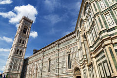The Giottos Campanile bell tower of the Florence Cathedral Stock Images