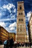 Giottos Campanile (Florence - Italien - Europa) Royaltyfri Foto
