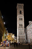 Giotto's Campanile by night Royalty Free Stock Image