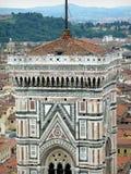 Giottos Klocka torn på Florence Cathedral, Tuscany, Italien royaltyfri fotografi