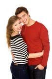 Giovane abbraccio delle coppie Fotografia Stock Libera da Diritti